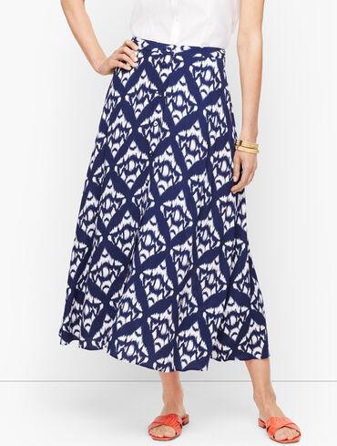 Ikat Midi Skirt