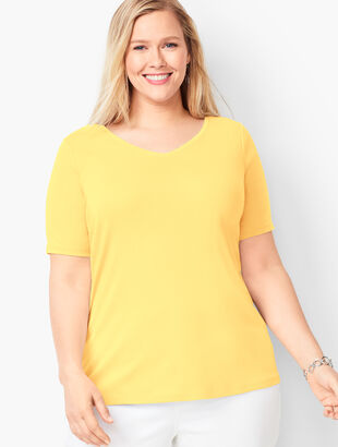 Pima Cotton V-Neck Tee
