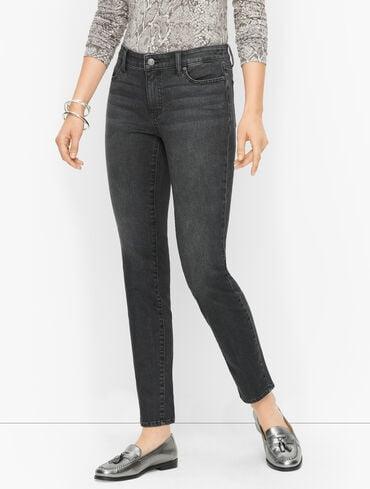 Slim Ankle Jeans - Noir Wash