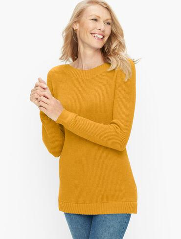 Shaker Stitch Sweater