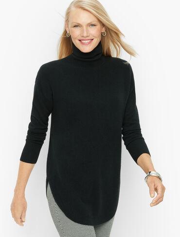 Textured Cashmere Turtleneck Sweater