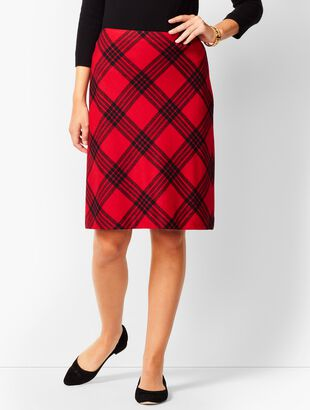 Twill A-Line Skirt - Country Plaid