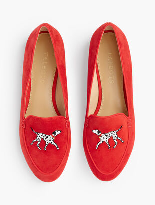 Ryan Novelty Loafers - Embroidered Dalmatian