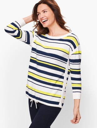 Multicolor Stripe Textured Sweater