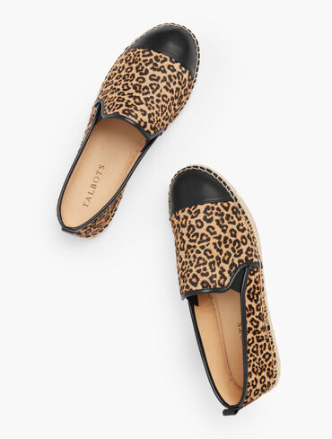 Izzy Calf Hair Espadrilles - Leopard