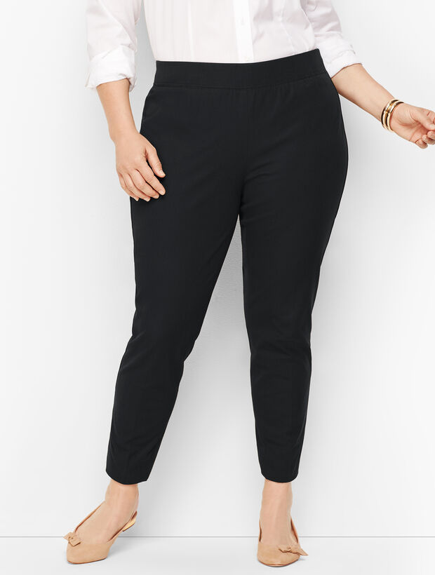 Bi-Stretch Pull-On Ankle Pants