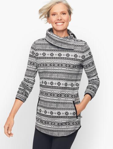 Split Neck Pullover - Winter Wonderland Fair Isle