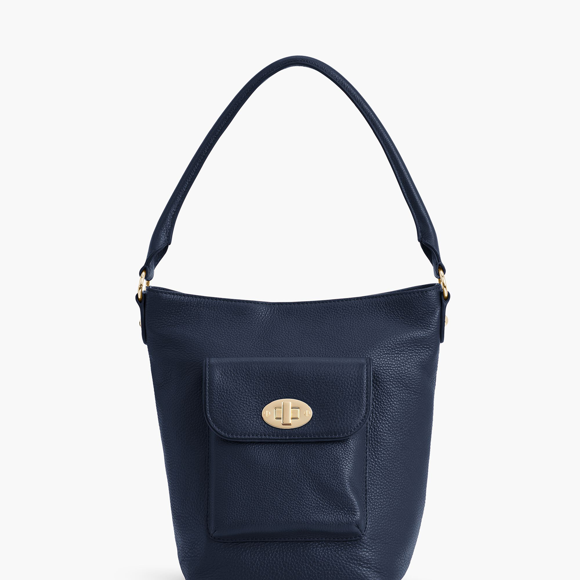 Images. Turnlock Bucket Bag - Pebble Leather 73b3b9cc93e84