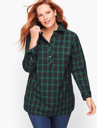 Perfect Popover - Black Watch Plaid