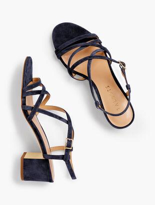 a743458eb Mimi Strappy Block-Heel Sandals