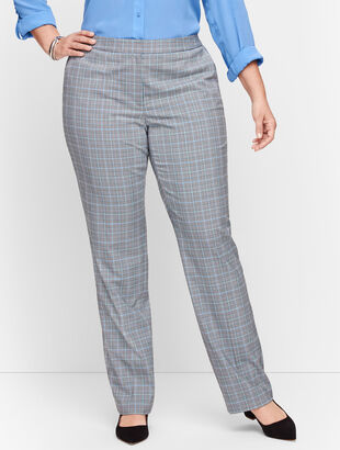Springtime Plaid Straight Leg Pants