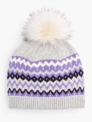 Fair Isle Pompom Hat