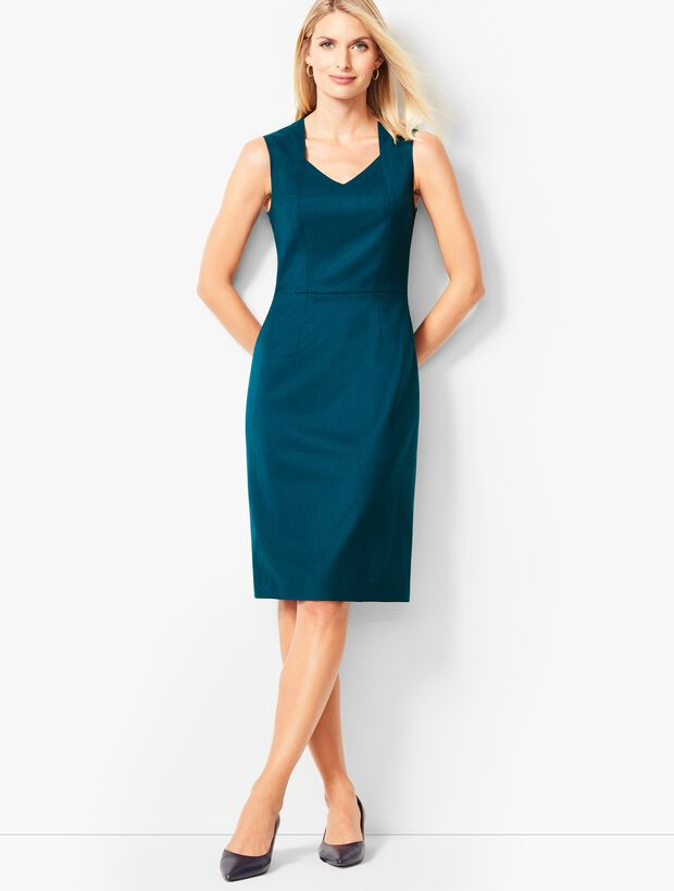 Luxe Italian Flannel Sheath Dress