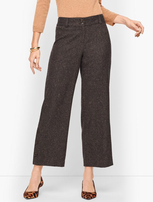 Wool Wide Leg Crop Pants