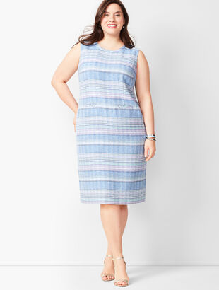 Stripe Tweed Shift Dress