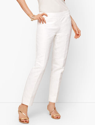 Matelassé Slim Ankle Pants
