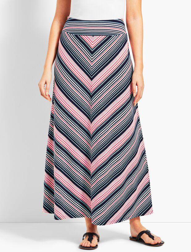 d27e7f8fb Fresh Stripe Jersey Maxi Skirt | Talbots
