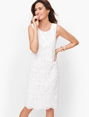 Eyelet Pineapple Scoop Neck Dress