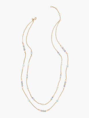 Double Layer Semiprecious Stone Necklace