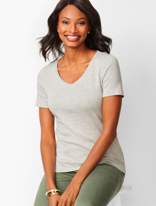V-Neck Tee - Heather