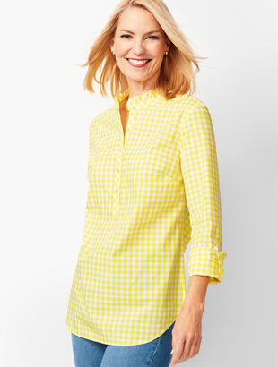 Classic Cotton Popover - Lemon Drop Gingham