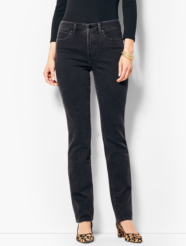 High-Waist Straight Leg Jeans - Galaxy Wash