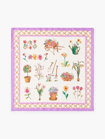Echo Floral Garden Silk Square Scarf