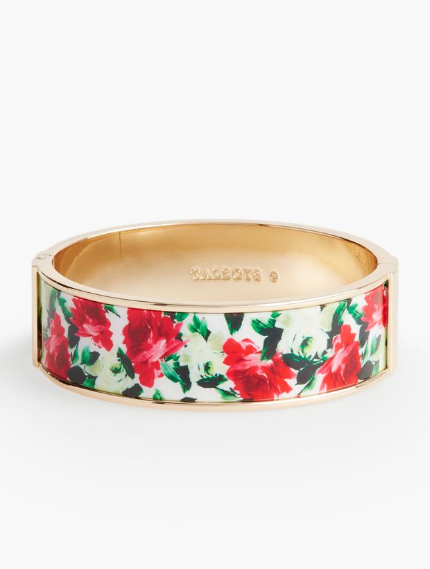 Dot & Rose Enamel Bangle