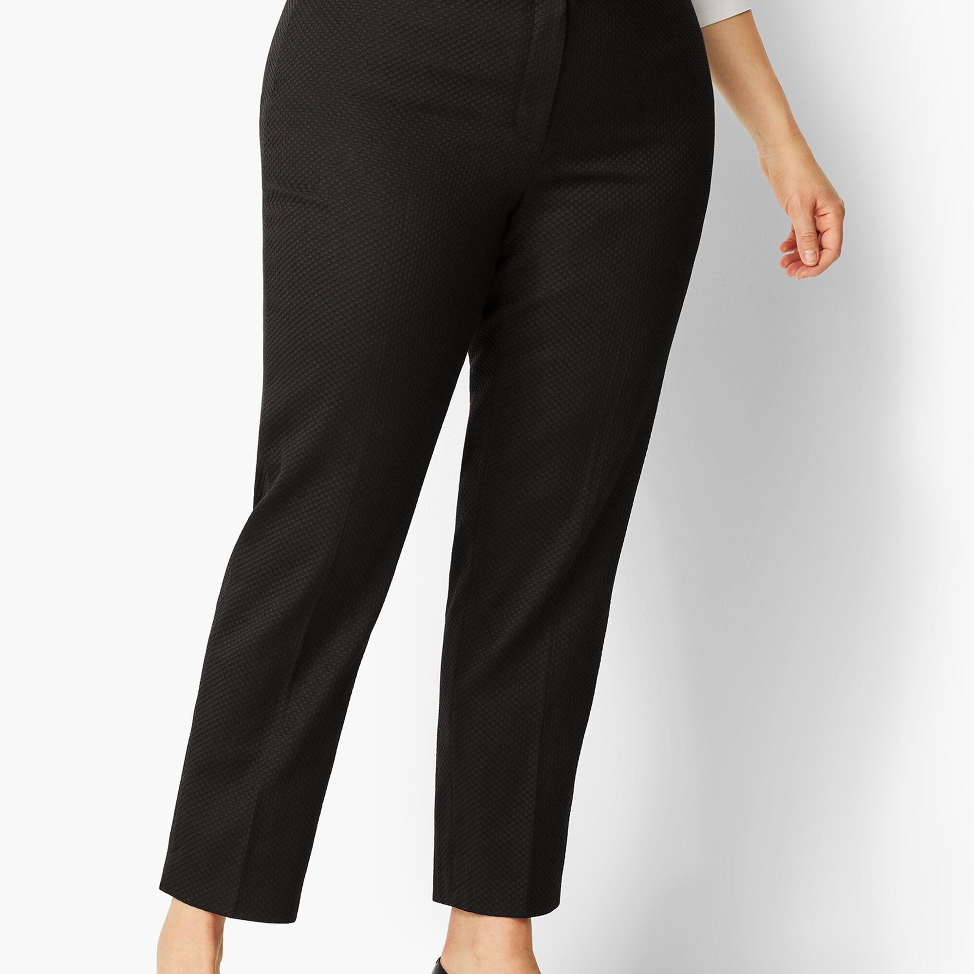 019f2d6f7a8 Plus Size Piqué Slim Ankle Pant