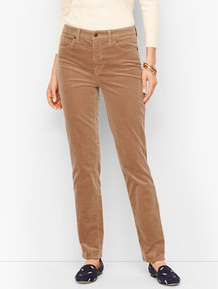 Stretch Corduroy Straight Leg Pants