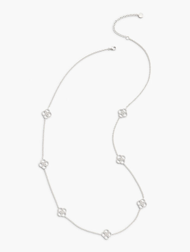 Sterling Silver Clover Layer Necklace