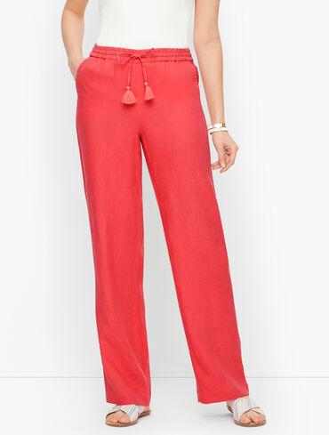 Linen Wide Leg Pants