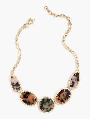 Blush Tortoise Statement Necklace