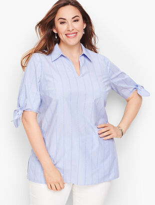 Tie-Sleeve Tunic - Stripe Dot