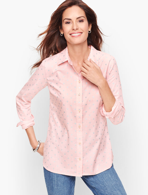 Classic Cotton Shirt - Foil Dot