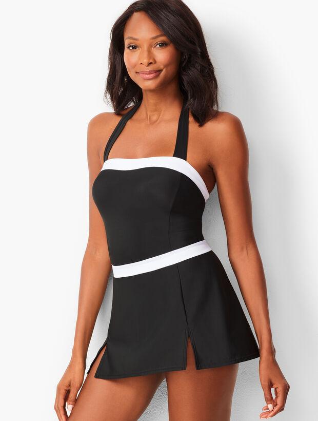2a8c976bbb7 Esther Williams Rockabilly Black Cherry Marilyn Halter Swimdress Source ·  Images Miraclesuit reg Halter Swim Dress