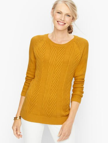 Cotton Cable Knit Pullover