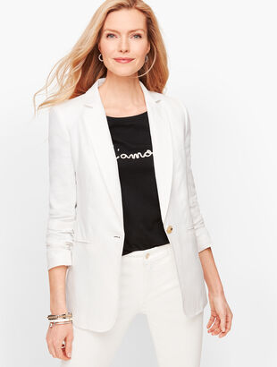Classic Linen Blazer - White