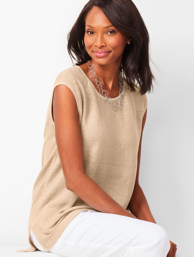 High-Low Linen Sweater