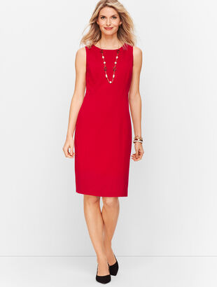 Italian Luxe Knit Sheath Dress - Solid