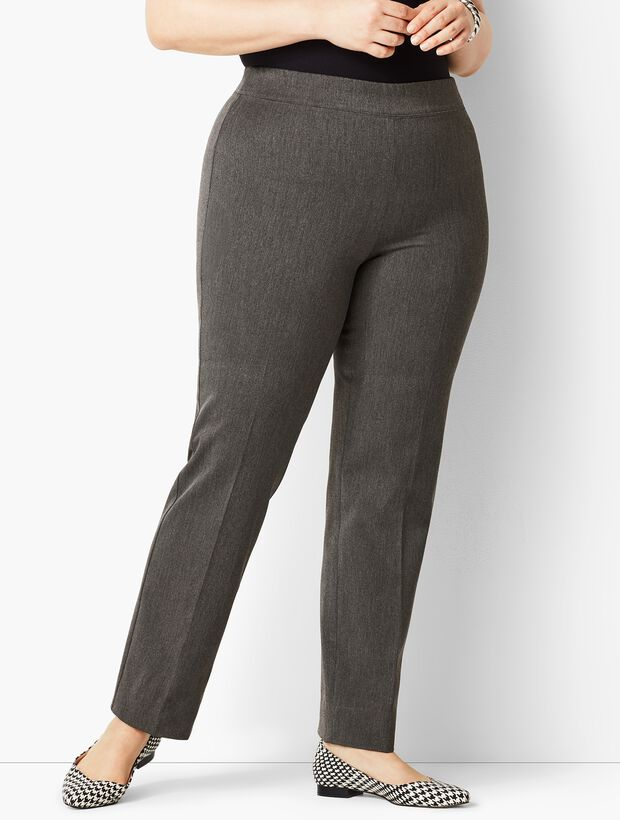 Plus Size Refined Bi-Stretch Pull-On Straight Leg Pant | Talbots