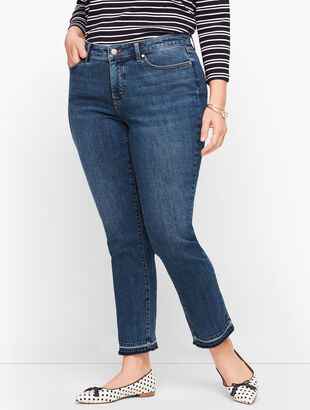 Slim Ankle Jeans - Dropped Hem - Conklin Wash