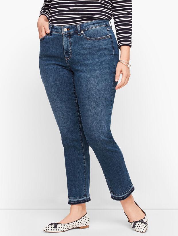 Slim Ankle Jeans - Dropped Hem - Conklin Wash