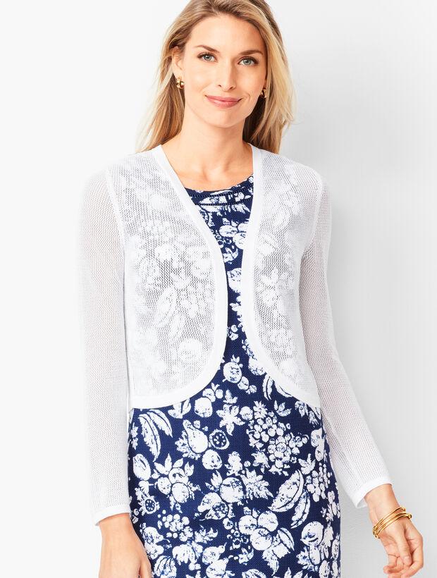 Open-Stitch Dress Shrug