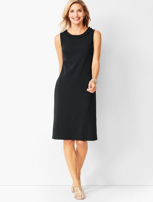 Cotton-Knit Shift Dress