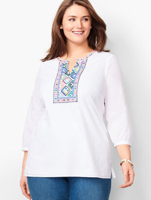Embellished Voile Tunic