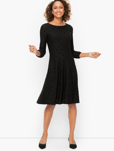 Fit & Flare Dress - Textured Hearts