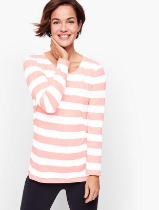Stripe Cutout Back Top - Bicolor