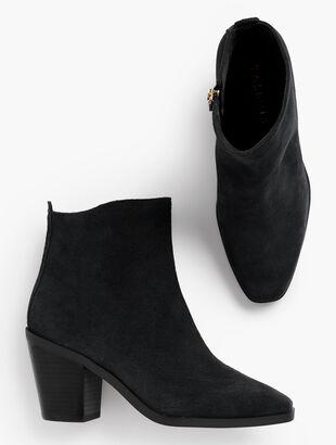 Sierra Suede Block-Heel Boots