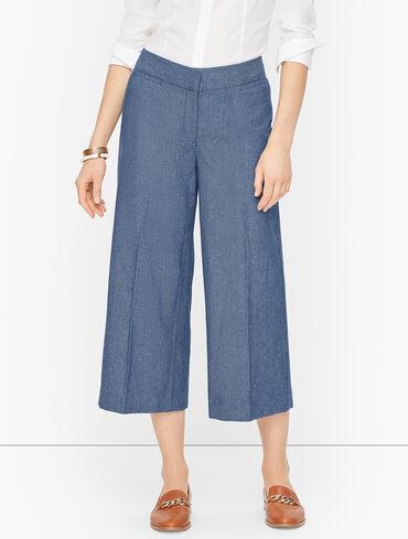 Twill Wide Leg Crops